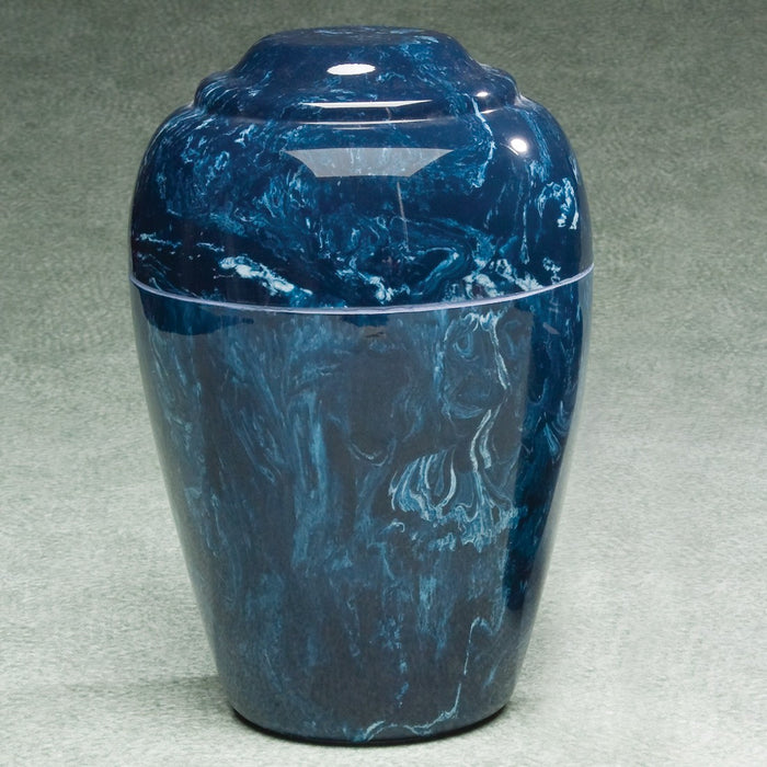 Eldridge Navy Simulated Marble Small 36 cu in Cremation Urn-Cremation Urns-Infinity Urns-Afterlife Essentials
