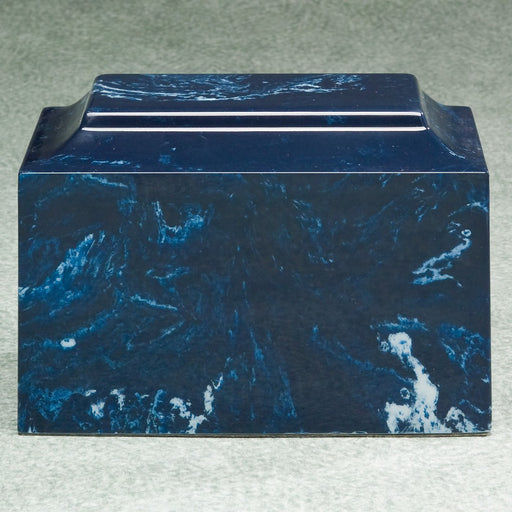 Majesty Navy Simulated Marble Adult 210 cu in Cremation Urn-Cremation Urns-Infinity Urns-Afterlife Essentials