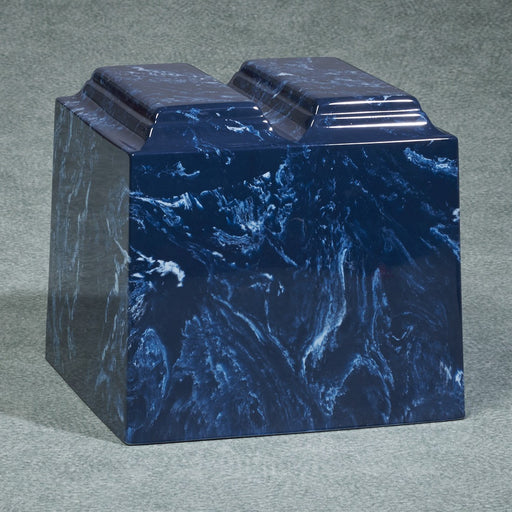 Majesty Companion Urn Series Niche Navy Simulated Marble 550 cu in Cremation Urn-Cremation Urns-Infinity Urns-Afterlife Essentials