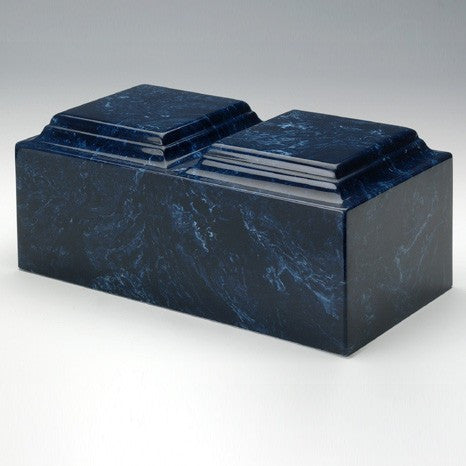 Majesty Companion Urn Series Navy Simulated Marble 410 cu in Cremation Urn-Cremation Urns-Infinity Urns-Afterlife Essentials