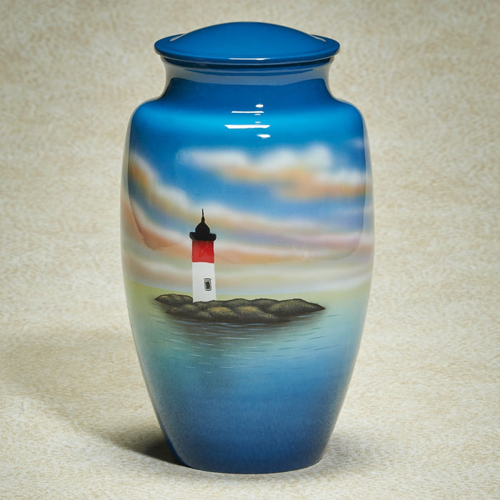 Light House Scene Hand-Painted 200 cu in Cremation Urn-Cremation Urns-Infinity Urns-Afterlife Essentials
