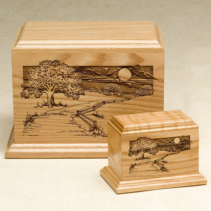 Pathway Home Series Oak Wood 200 cu in Cremation Urn-Cremation Urns-Infinity Urns-Afterlife Essentials