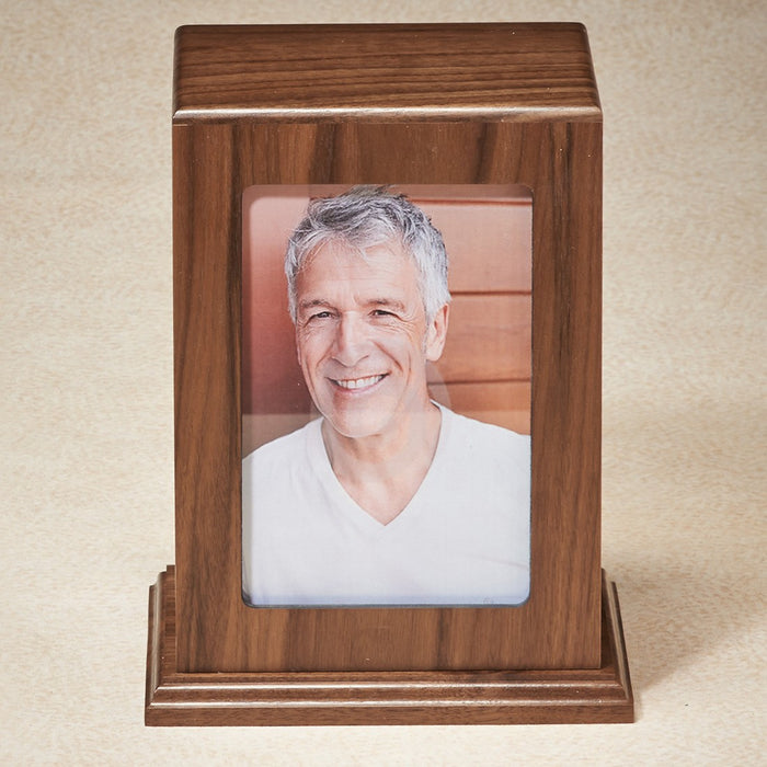Loving Memory Walnut Wood Adult 200 cu in Cremation Urn-Cremation Urns-Infinity Urns-Afterlife Essentials