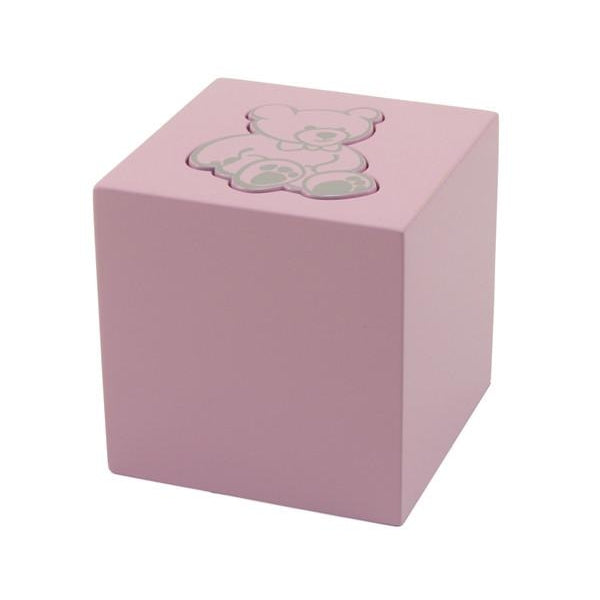 Teddy Bear Box Cremation Urn - Pink-Cremation Urns-Terrybear-Afterlife Essentials