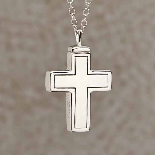 Plain Cross Pendant Cremation Jewelry-Jewelry-Infinity Urns-Afterlife Essentials
