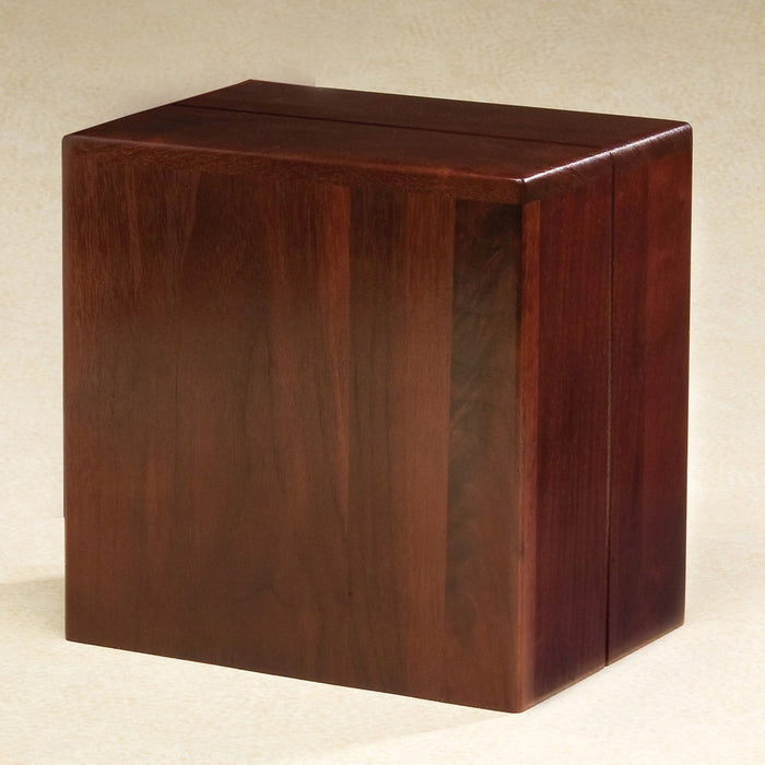 Pratique Solid Walnut Wood 415 cu in Cremation Urn-Cremation Urns-Infinity Urns-Afterlife Essentials