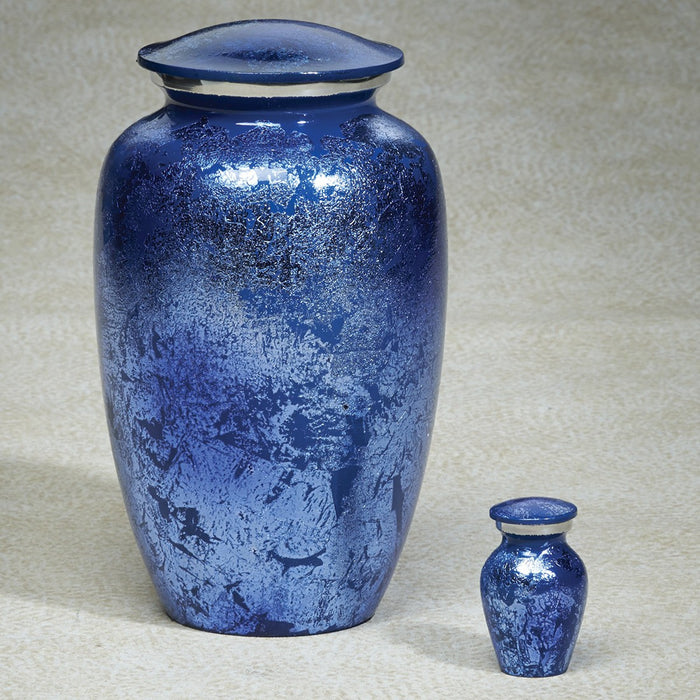 Prismatic Blue Brass 202 cu in Cremation Urn-Cremation Urns-Infinity Urns-Afterlife Essentials