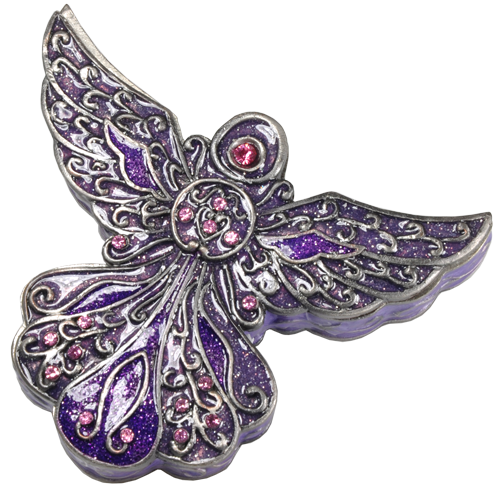 Angel Purple Mini Figurine Cremation Urn Keepsake-Cremation Urns-New Memorials-Afterlife Essentials