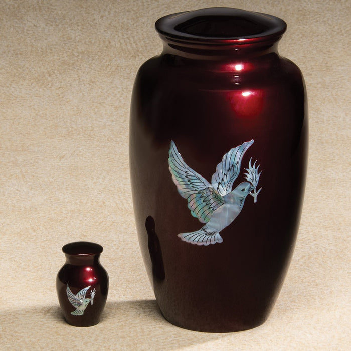 Luminescent Series Dove 200 cu in Cremation Urn-Cremation Urns-Infinity Urns-Afterlife Essentials
