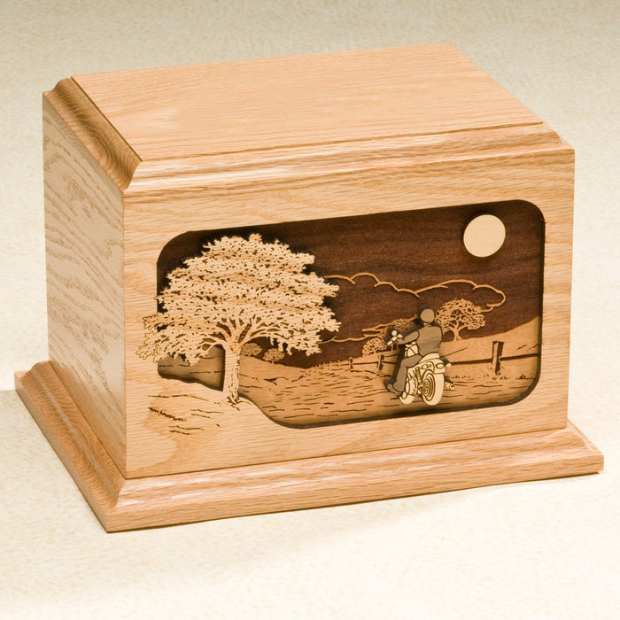 The Ride Home Series Oak Wood 200 cu in Cremation Urn-Cremation Urns-Infinity Urns-Afterlife Essentials