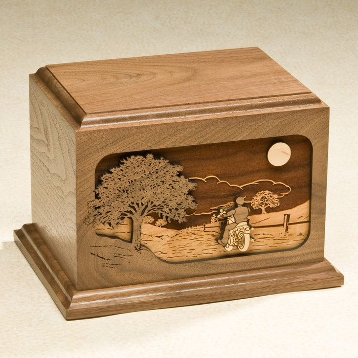The Ride Home Series Walnut Wood 200 cu in Cremation Urn-Cremation Urns-Infinity Urns-Afterlife Essentials
