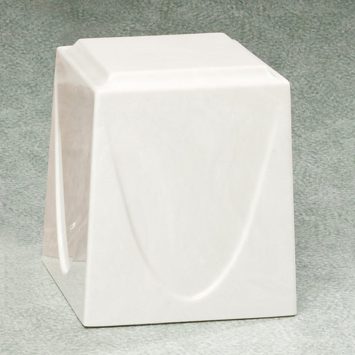 Saturn White Simulated Marble Adult 201 cu in Cremation Urn-Cremation Urns-Infinity Urns-Afterlife Essentials