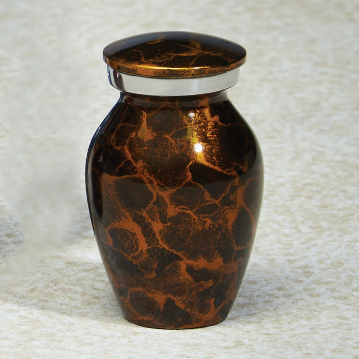 Sunshed Waters Amber Mini 5 cu in Cremation Urn Keepsake-Cremation Urns-Infinity Urns-Afterlife Essentials