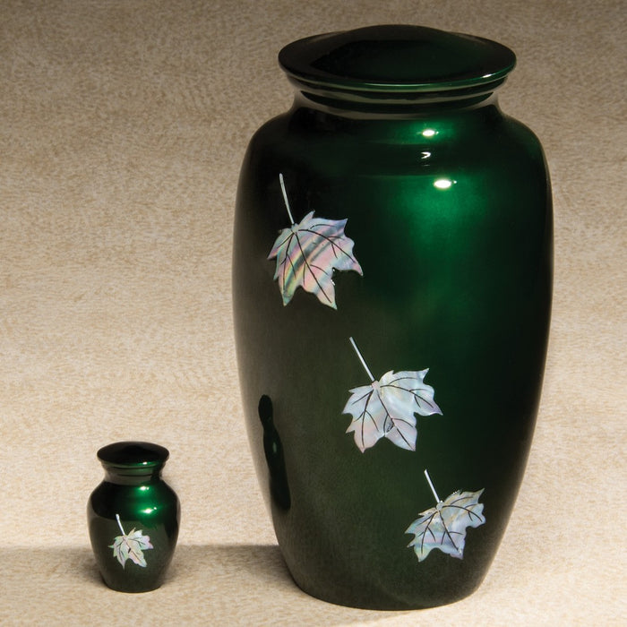 Luminescent Series Leaves 2.8 cu in Cremation Urn-Cremation Urns-Infinity Urns-Afterlife Essentials