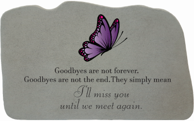 Memorial Gift Goodbyes are..w/purple butterfly-Memorial Gift-Kay Berry-Afterlife Essentials