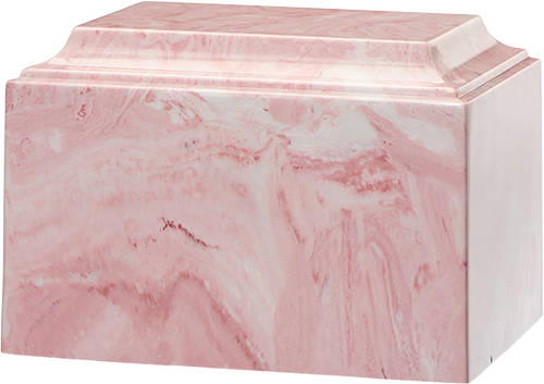 Tuscany Cultured Marble Adult 225 cu in Cremation Urn-Cremation Urns-Bogati-Pink-Afterlife Essentials