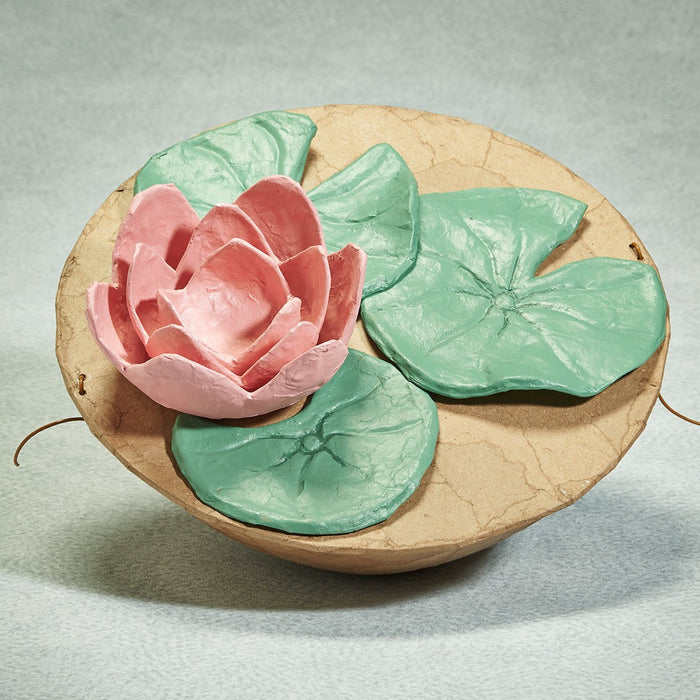 Water Series Lily Pad Biodegradable 260 cu in Cremation Urn-Cremation Urns-Infinity Urns-Afterlife Essentials