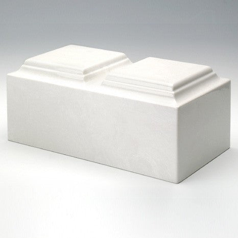 Majesty Companion Urn Series White Simulated Marble 410 cu in Cremation Urn-Cremation Urns-Infinity Urns-Afterlife Essentials