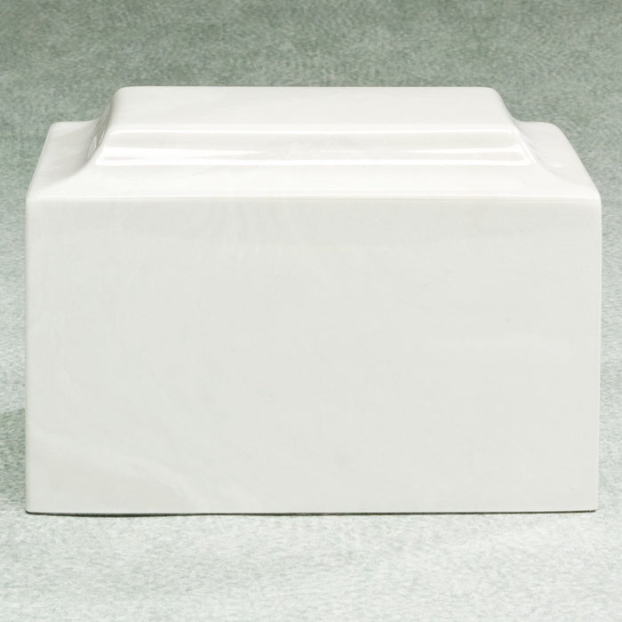 Majesty White Simulated Marble Adult 210 cu in Cremation Urn-Cremation Urns-Infinity Urns-Afterlife Essentials