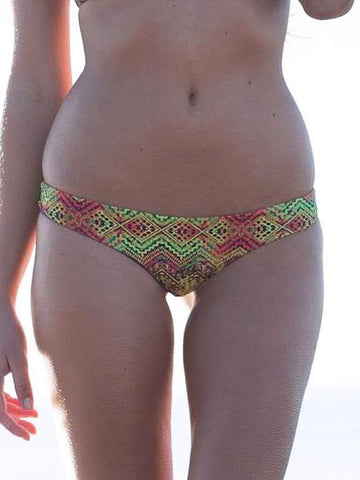 Dollboxx Swimwear Flaunt It Cheeky Bottoms - Aztec Rainbow
