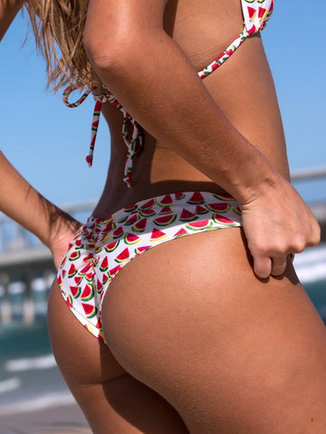 Dollboxx Swimwear Flaunt It Cheeky Bottoms - Magic Melons