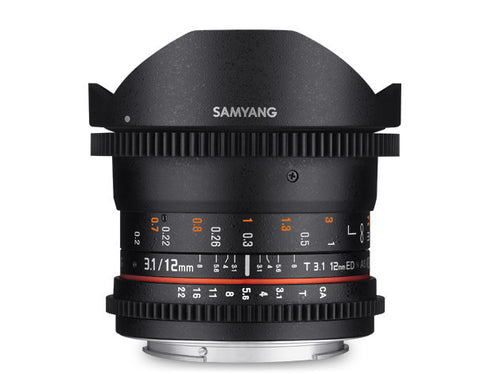 Samyang 12mm T3.1 VDSLR ED AS NCS FISH-EYE