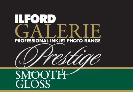 Ilford GALERIE Prestige Smooth Gloss Paper A2 25 sheets.