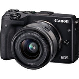 Canon EOS M3 Mirrorless Camera with EF-M 15-45mm Lens