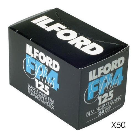 Ilford FP4 Plus Black and White Negative Film | 35mm Roll Film, 24 Exposures (50 Pack)