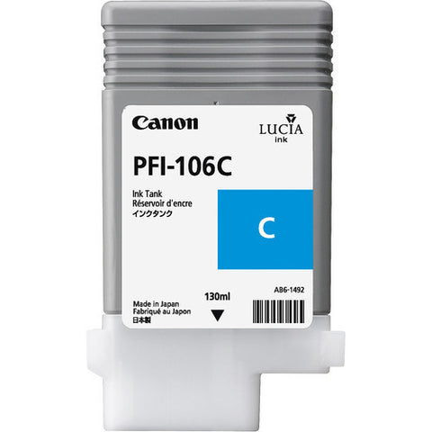 Canon | PFI-106 Cyan Ink Cartridge (130 ml)