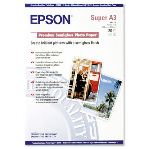 Epson | A3+ Premium Semigloss Photo Paper - 20 Sheets (251gsm)