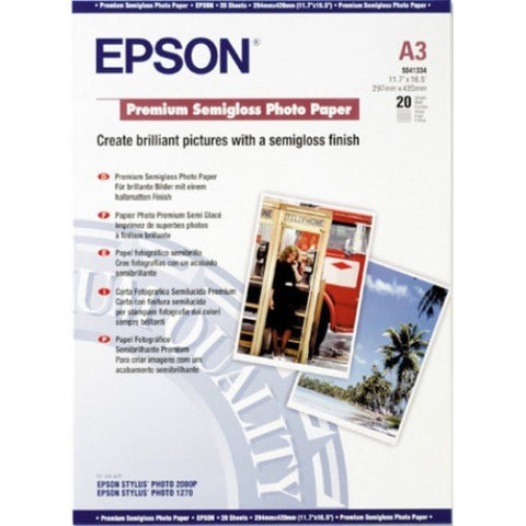 Epson | A3 Premium Semigloss Photo Paper - 20 Sheets (251gsm)