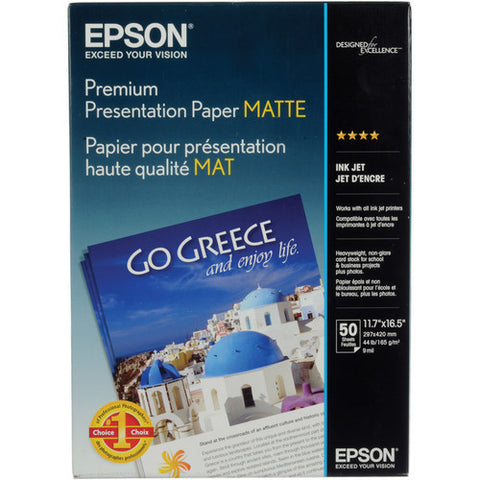 "Epson | Matte Paper Heavyweight for Inkjet 11.7x16.5"" (A3) - 50 Sheets"