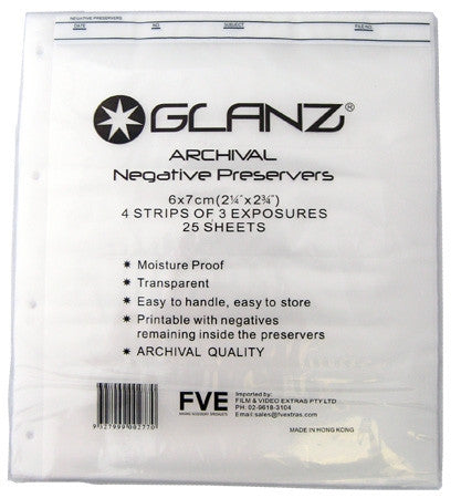 Glanz | 120 Negative Sleeves - A4 25PK