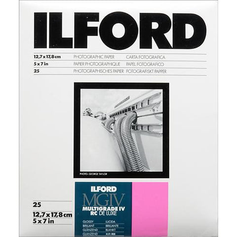 Ilford Multigrade Black & White Variable Contrast Paper | 12.7x17.8cm, Glossy, Sheets
