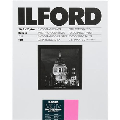"Ilford Multigrade DeluxeBlack & White RC | 8x10"", 25 Sheets Glossy"