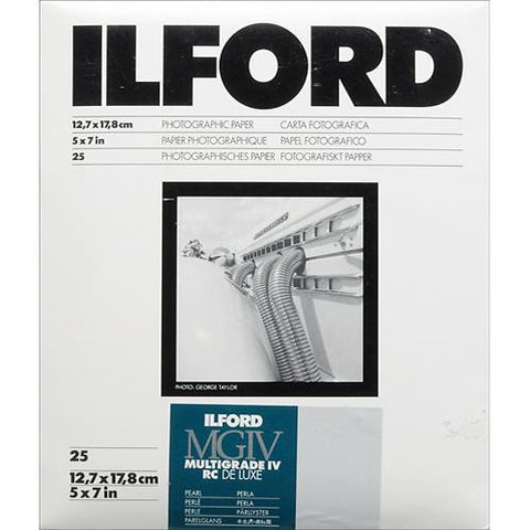 Ilford Multigrade Black & White Deluxe RC Pearl Paper | 12.7x17.8cm, Glossy, Sheets