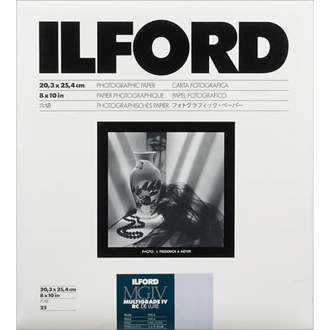 Ilford Deluxe Black & White Variable Contrast RC Pearl Paper | 20.3x25.4cm, Glossy, Sheets