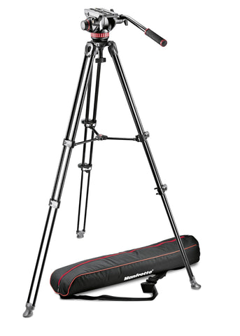 Manfrotto Video Tripod Kit (MVT502AM, MVH502A, bag & spreader)