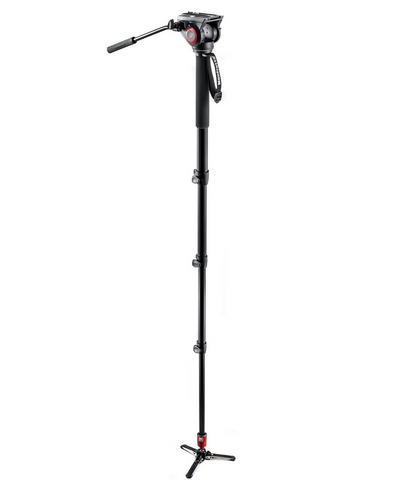 Manfrotto Aluminum Fluid Monopod & Fluid Head