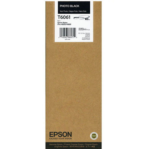 Epson | T6061 Photo Black Ink Cartridge (220 ml)