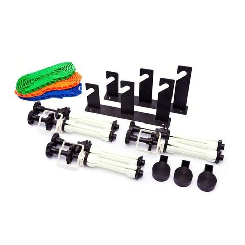 B-3W Wall Mounted Backdrop System (Includes Triple Hooks + 3 x Expansion Core Grips with Chains