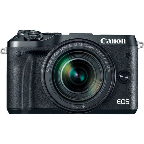 Canon EOS M6 Mirrorless Digital Camera with EF-M 18-150mm camera Kit - Black