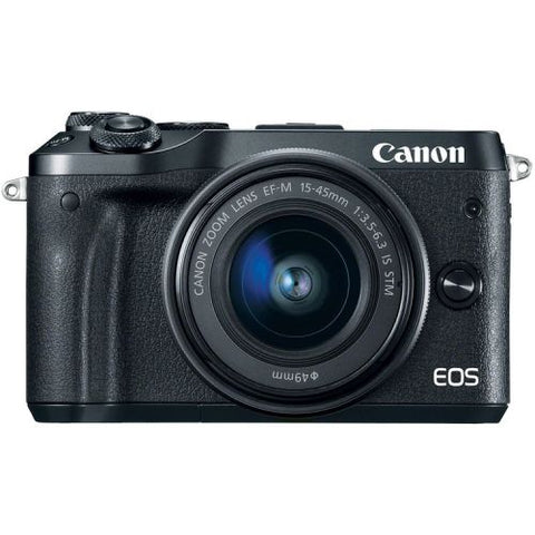 Canon EOS M6 Mirrorless Camera Body with 15-45mm lens - Black