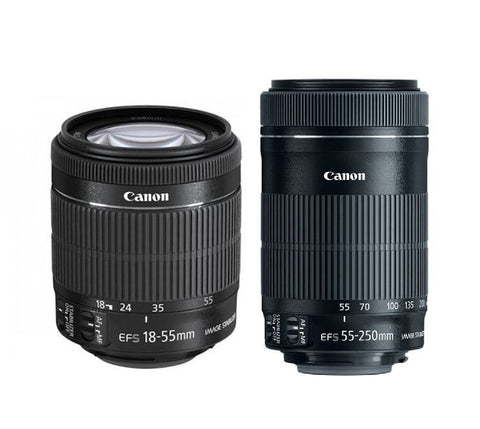 Canon | EF-S 18-55mm  + CANON | EF-S 55-250MM LENS Twin Kit