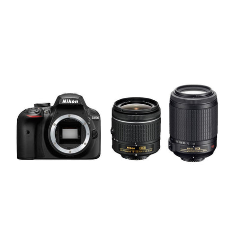 Nikon D3400 18-55mm & 55-200mm VR Zoom Lens Kit