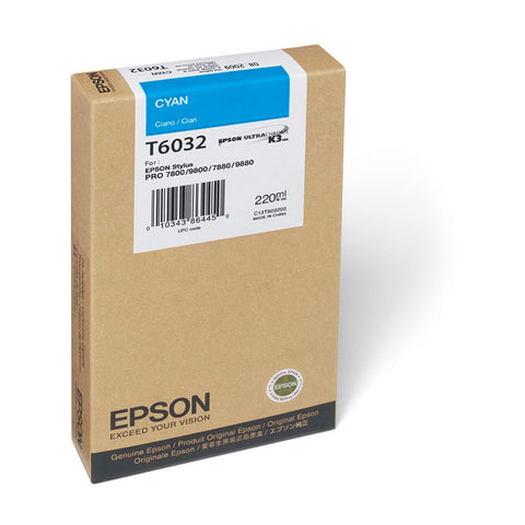 Epson | T6032 Cyan Ink Cartridge (220 ml)