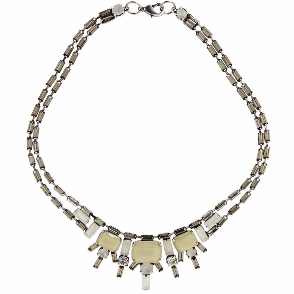 Mezi Deco Crystal Statement Necklace