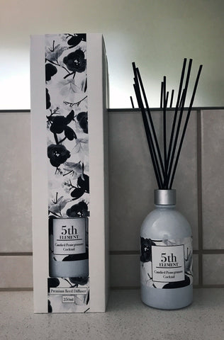 5th Element Melbourne 250ml Reed Diffuser - Candied Pomegranate Cocktail
