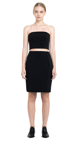 Deana Zip Back Strapless Crop Top